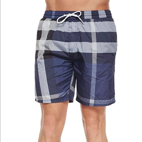 af67436e57 Burberry Swim | Mens Gowers Check Shorts | Poshmark